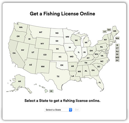 Get a Fishing License