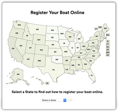 Register Your Boat Online